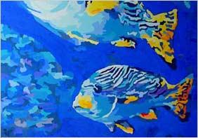 Schwarm Orientalischer Süßlippenfische