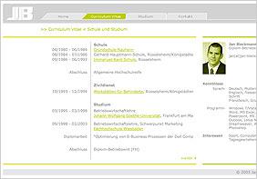 Projektbeschreibung zu www.jan-bleckmann.de